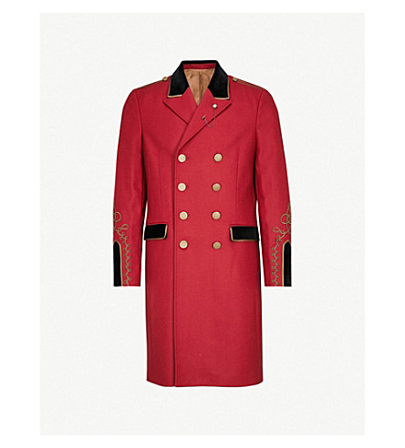 THE KOOPLES Military wool-blend coat (Red01