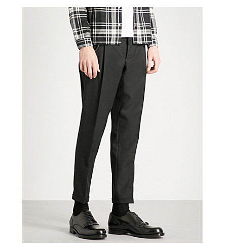 THE KOOPLES Tapered fitted wool trousers (Bla01