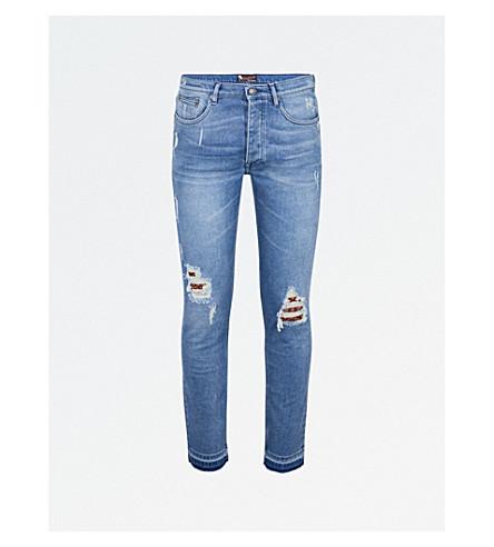 THE KOOPLES Slim-fit skinny destroyed jeans (Blu03
