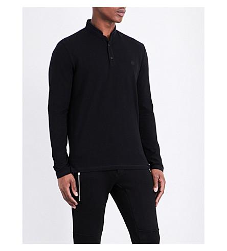 THE KOOPLES Long-sleeved cotton-piqué polo shirt (Bla27