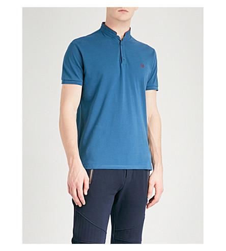 THE KOOPLES Contrast-collar cotton-piqué polo shirt (Pur27
