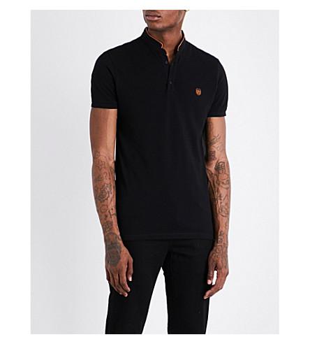 THE KOOPLES Officer-collar slim-fit cotton-piqué polo shirt (Blab1