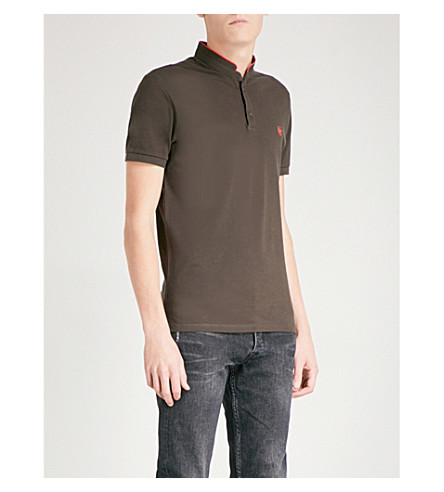 THE KOOPLES Contrast-collar cotton-piqué polo shirt (Brw29