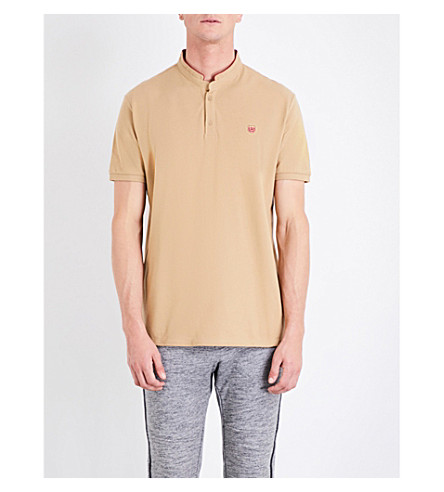 THE KOOPLES Contrast-collar cotton polo shirt (Cam07