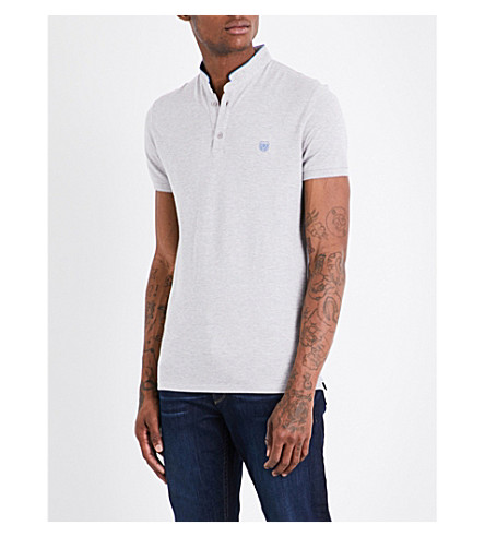 THE KOOPLES Officer-collar cotton-piqué polo shirt (Gryc3