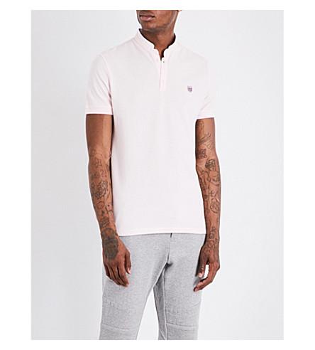 THE KOOPLES Officer-collar cotton-piqué polo shirt (Pina9