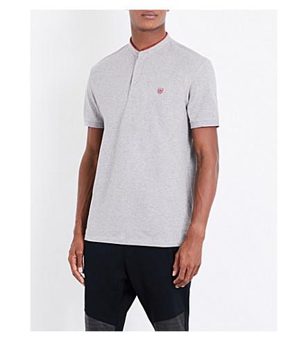THE KOOPLES Officer-collar cotton-piqué polo shirt (Gryc8