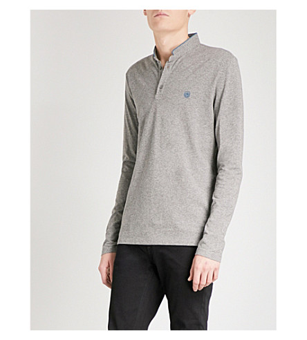 THE KOOPLES Long-sleeved cotton-piqué polo shirt (Gryc7