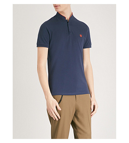 THE KOOPLES Officer-collar cotton polo shirt (Ind01