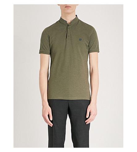 THE KOOPLES Officer-collar cotton polo shirt (Kak40