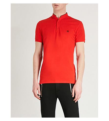 THE KOOPLES Officer-collar cotton polo shirt (Oraa8
