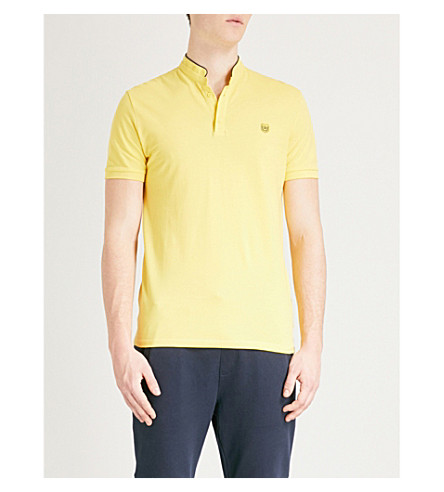 THE KOOPLES Fitted cotton-piqué polo shirt (Yel34