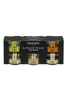 FAUCHON Mini French mustards gift set 5 x 25g