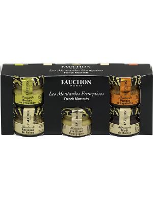 FAUCHON Mini French mustards gift set 5 x 25g