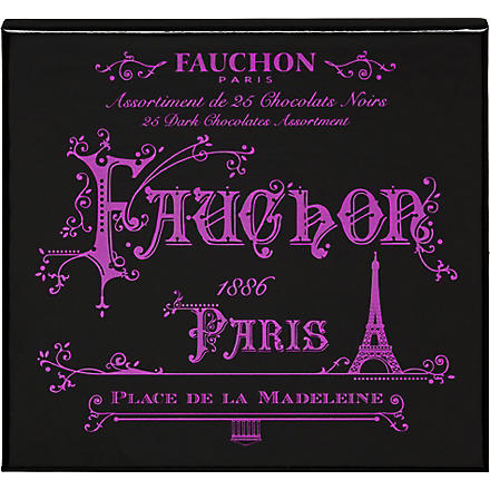 FAUCHON Paris 25 dark chocolate assortment 255g