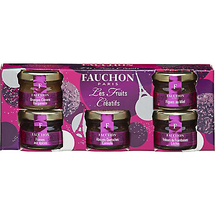 FAUCHON Creative Fruits mini jams gift set 5 x 25g