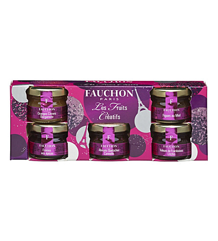 FAUCHON Creative Fruits mini jams gift set 5 x 25g