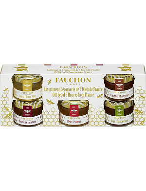 FAUCHON Mini French honey gift set 5 x 28g