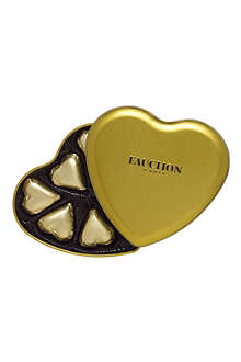 FAUCHON Gold chocolate heart tin 75g