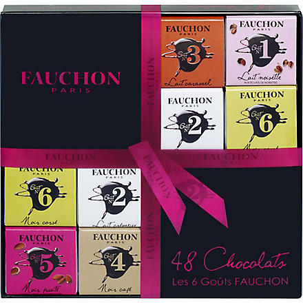 FAUCHON 48 chocolate squares gift box 216g