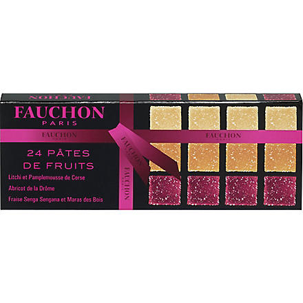 FAUCHON Pack of 24 assorted fruit jellies 250g