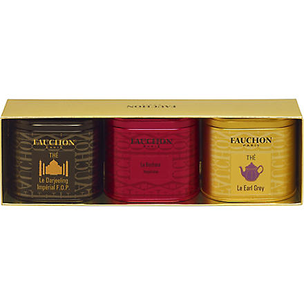 FAUCHON Three Mini-Tea tins gift set