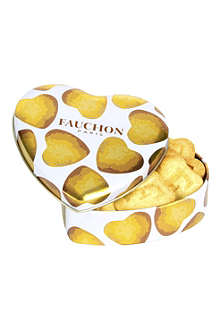FAUCHON Tin of 12 heart-shaped biscuits