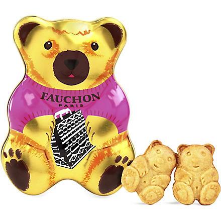 FAUCHON Teddy bear vanilla biscuits 85g