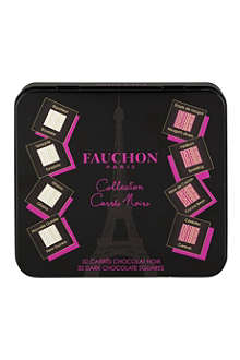 FAUCHON Tin of 32 napolitans dark chocolates