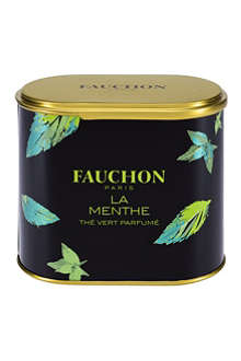 FAUCHON Tin of mint green loose leaf tea
