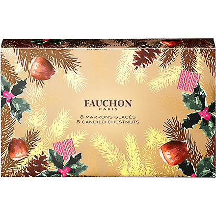 FAUCHON Box of eight marron glacés 160g