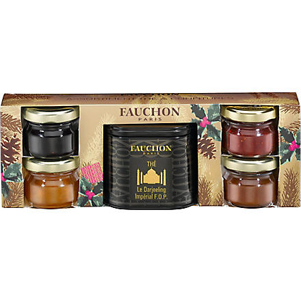 FAUCHON Mini-jams and Darjeeling tea Breakfast gift set