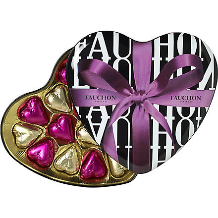 FAUCHON Ribbon Heart chocolate tin 165g