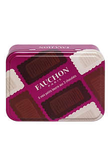 FAUCHON Mini-butter chocolate biscuit tin 80g