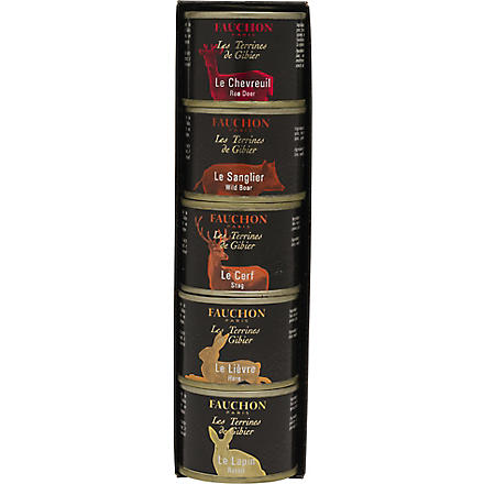 FAUCHON Assortment of five Game Pâtés 5 x 65g