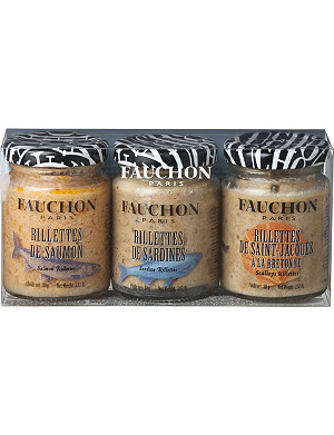 FAUCHON Seafood rillettes gift set 3 x 80g