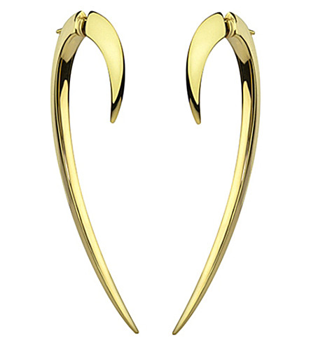 SHAUN LEANE Signature 18ct yellow-gold hook earrings