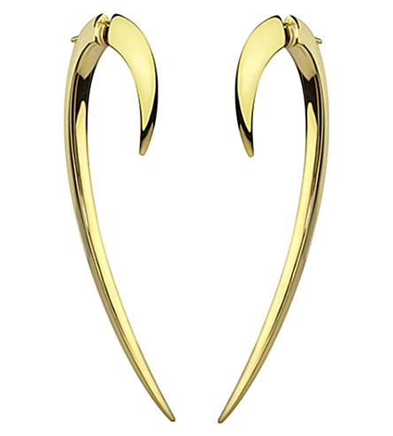 SHAUN LEANE Signature 18ct yellow-gold hook earrings