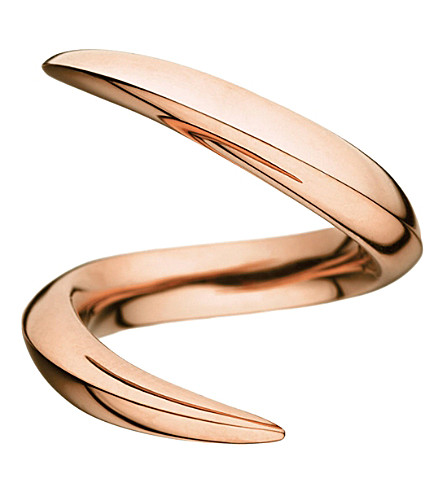 SHAUN LEANE Aerial 18ct rose-gold crossover ring