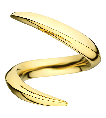 SHAUN LEANE Aerial 18ct yellow-gold crossover ring