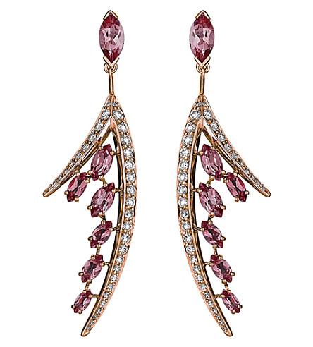SHAUN LEANE 空中18ct 玫瑰金和钻石耳环