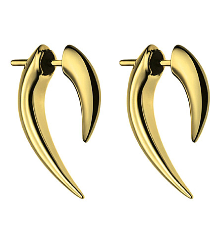SHAUN LEANE Sterling silver and gold vermeil talon earrings