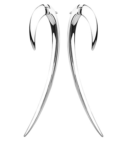 SHAUN LEANE Sterling silver hook earrings size 2