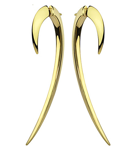 SHAUN LEANE Silver and gold plate hook earrings size 2