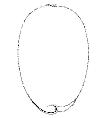 SHAUN LEANE Sterling silver hook necklace