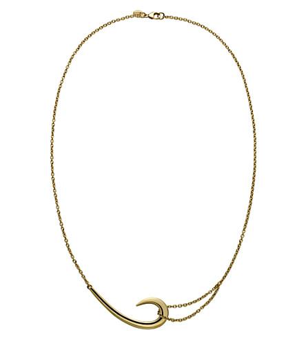 SHAUN LEANE 纯银和金板钩项链