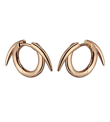SHAUN LEANE 纯银 Rose Gold 文梅尔 thorned 箍耳环