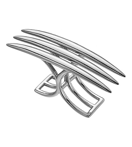 SHAUN LEANE Crossover quill sterling silver ring