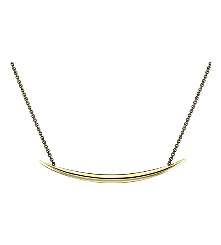 SHAUN LEANE Quill Gold-plate necklace