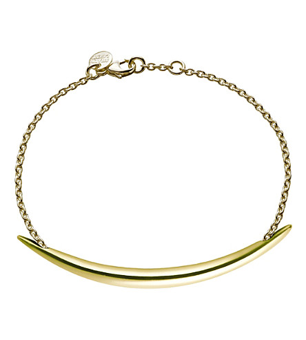 SHAUN LEANE Quill Gold plate chain bracelet
